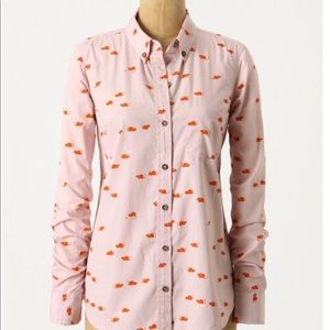 Anthropologie Odille Mouse Print Blouse